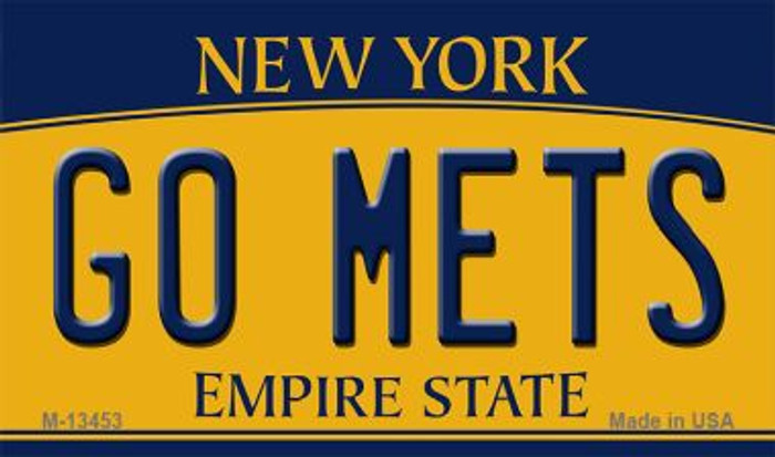 Go Mets Novelty Metal Magnet M-13453