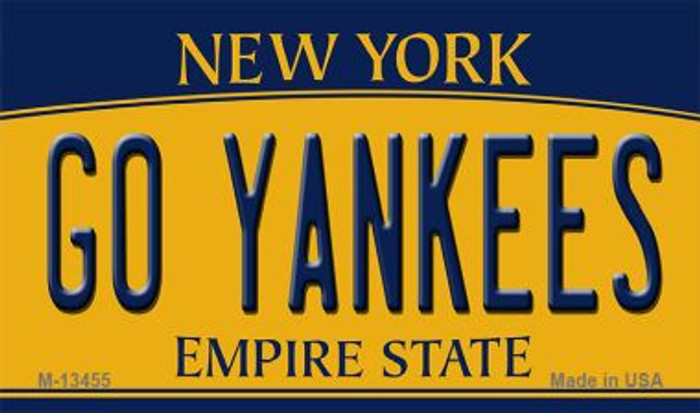 Go Yankees Novelty Metal Magnet M-13455
