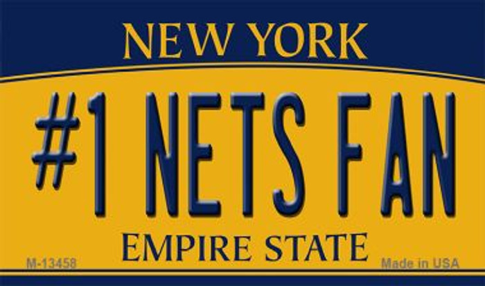 Number 1 Nets Fan Novelty Metal Magnet M-13458
