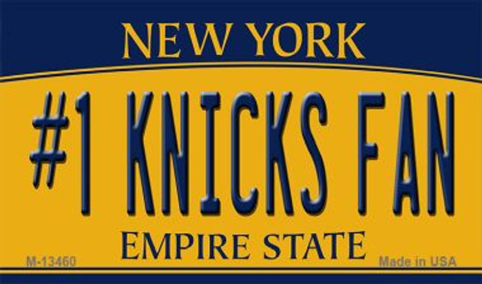 Number 1 Knicks Fan Novelty Metal Magnet M-13460