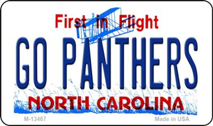 Go Panthers Novelty Metal Magnet M-13467