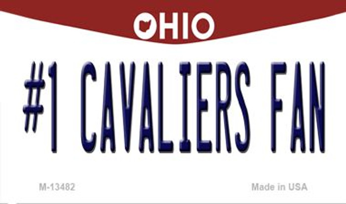 Number 1 Cavaliers Fan Novelty Metal Magnet M-13482