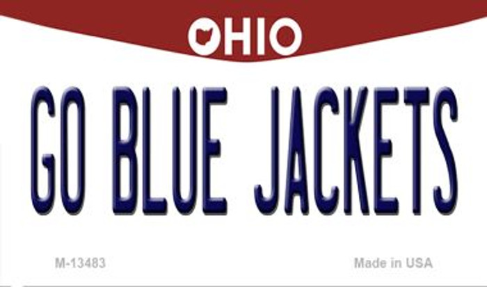 Go Blue Jackets Novelty Metal Magnet M-13483
