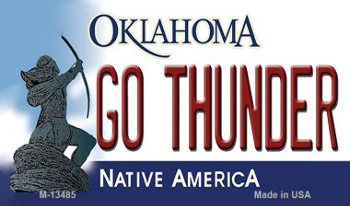 Go Thunder Novelty Metal Magnet M-13485