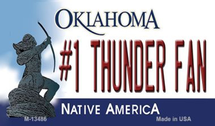 Number 1 Thunder Fan Novelty Metal Magnet M-13486