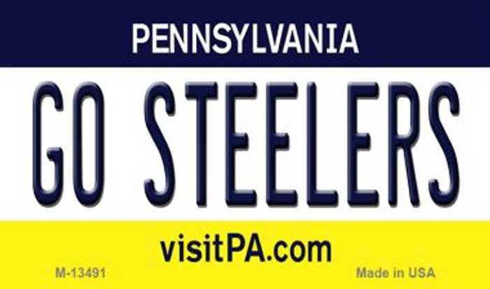 Go Steelers Novelty Metal Magnet M-13491