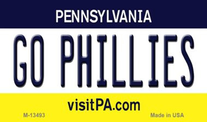 Go Phillies Novelty Metal Magnet M-13493