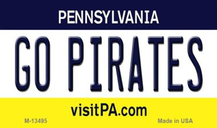 Go Pirates Novelty Metal Magnet M-13495