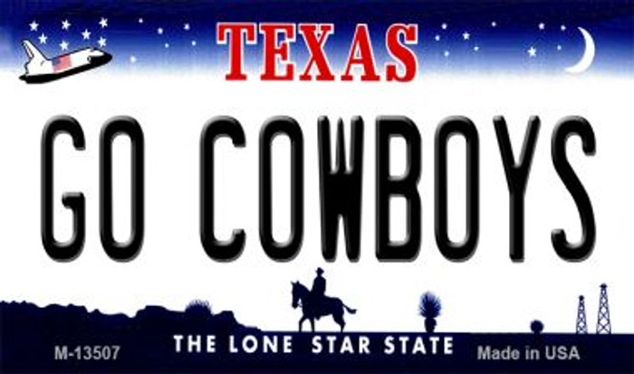 Go Cowboys Novelty Metal Magnet M-13507