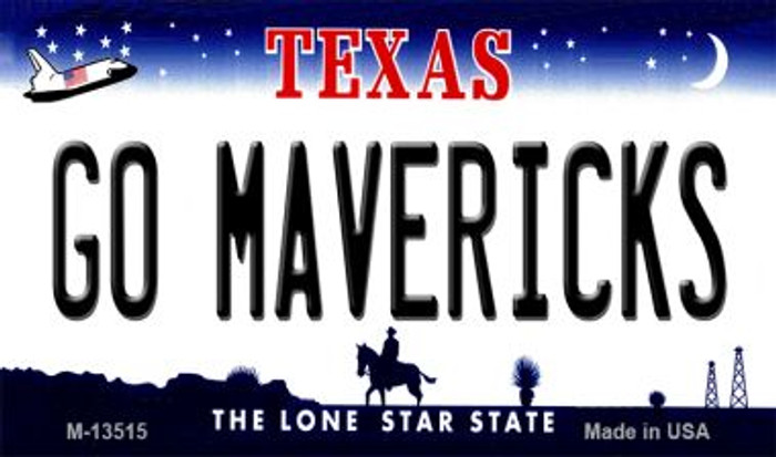 Go Mavericks Novelty Metal Magnet M-13515