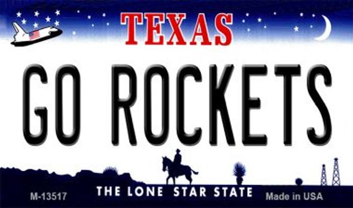 Go Rockets Novelty Metal Magnet M-13517