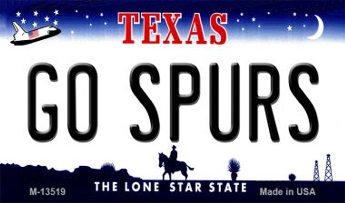 Go Spurs Novelty Metal Magnet M-13519