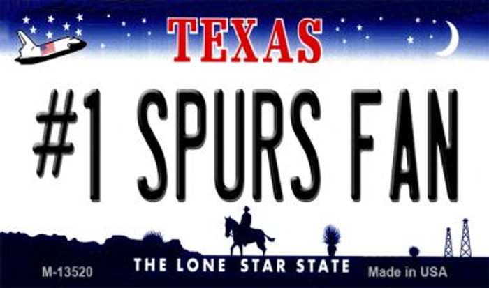 Number 1 Spurs Fan Novelty Metal Magnet M-13520