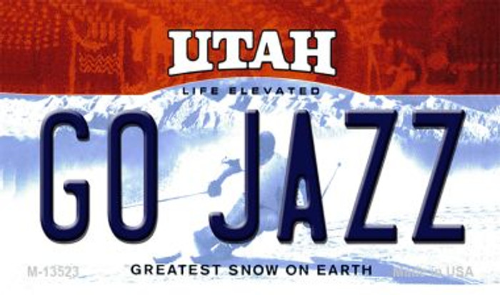 Go Jazz Novelty Metal Magnet M-13523