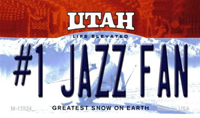Number 1 Jazz Fan Novelty Metal Magnet M-13524