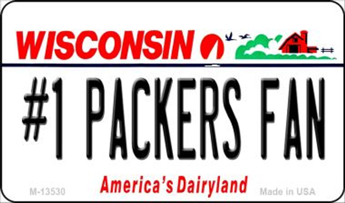 Number 1 Packers Fan Novelty Metal Magnet M-13530