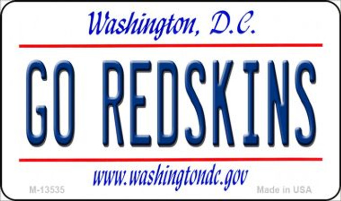 Go Redskins Novelty Metal Magnet M-13535