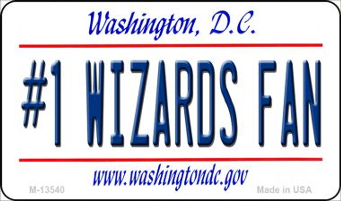 Number 1 Wizards Fan Novelty Metal Magnet M-13540