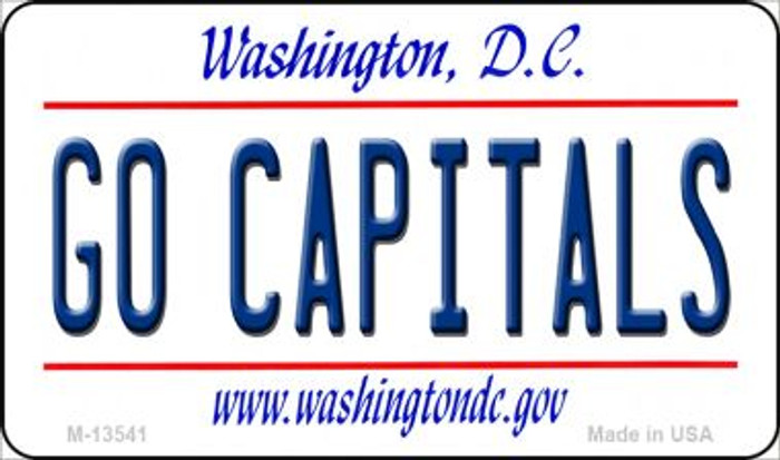Go Capitals Novelty Metal Magnet M-13541