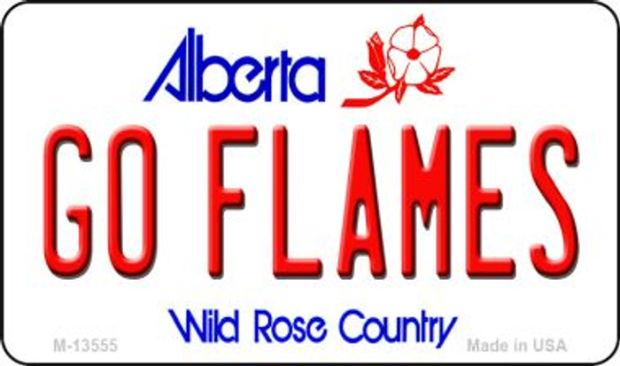 Go Flames Novelty Metal Magnet M-13555