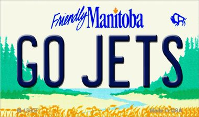 Go Jets Novelty Metal Magnet M-13557