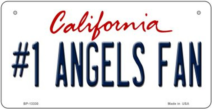 Number 1 Angels Fan Novelty Metal Bicycle Plate BP-13330
