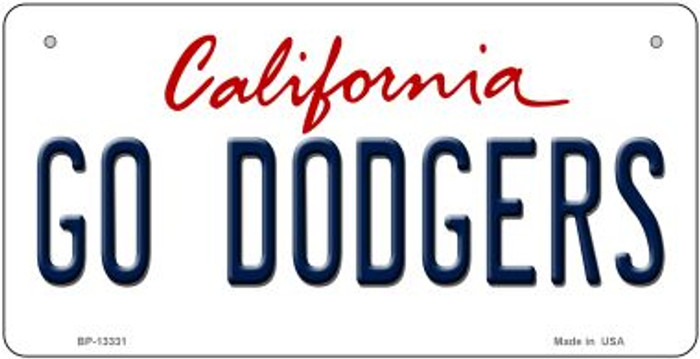 Go Dodgers Novelty Metal Bicycle Plate BP-13331