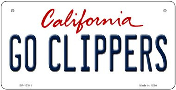 Go Clippers Novelty Metal Bicycle Plate BP-13341