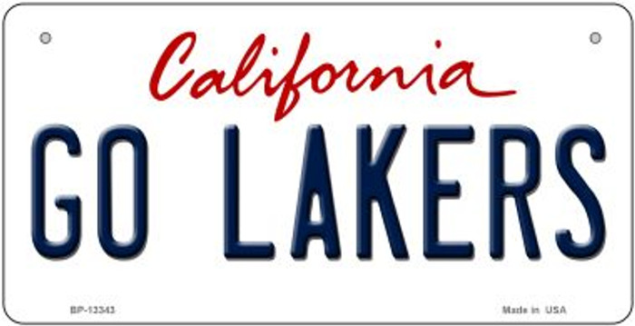Go Lakers Novelty Metal Bicycle Plate BP-13343