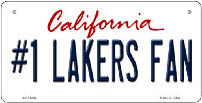 Number 1 Lakers Fan Novelty Metal Bicycle Plate BP-13344