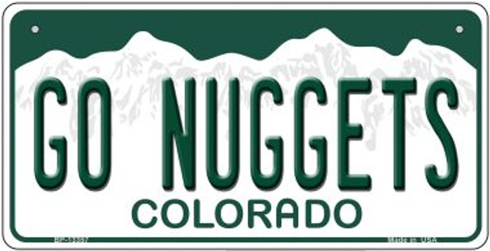 Go Nuggets Novelty Metal Bicycle Plate BP-13357