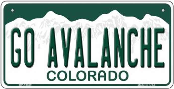 Go Avalanche Novelty Metal Bicycle Plate BP-13359