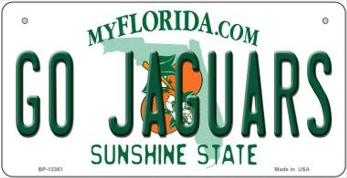 Go Jaguars Novelty Metal Bicycle Plate BP-13361