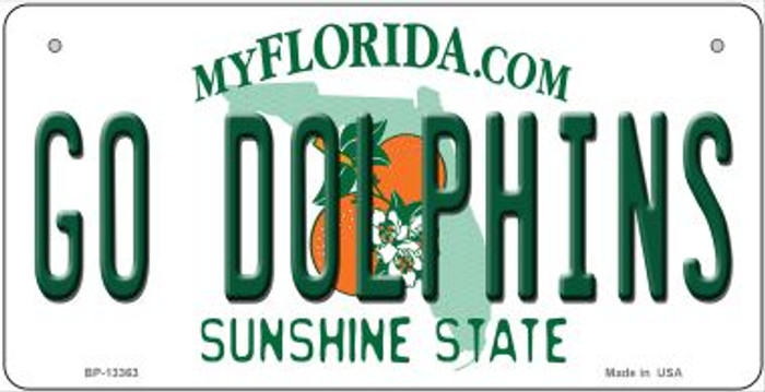 Go Dolphins Novelty Metal Bicycle Plate BP-13363