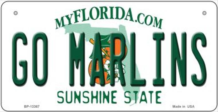 Go Marlins Novelty Metal Bicycle Plate BP-13367