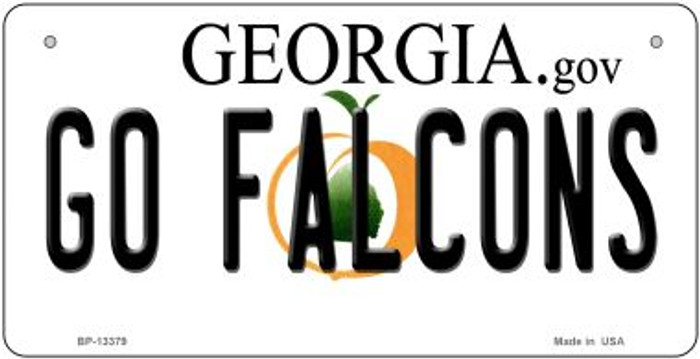 Go Falcons Novelty Metal Bicycle Plate BP-13379