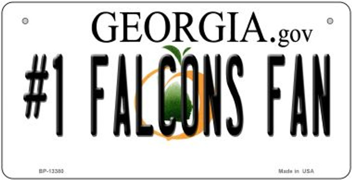 Number 1 Falcons Fan Novelty Metal Bicycle Plate BP-13380
