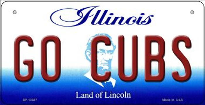 Go Cubs Novelty Metal Bicycle Plate BP-13387