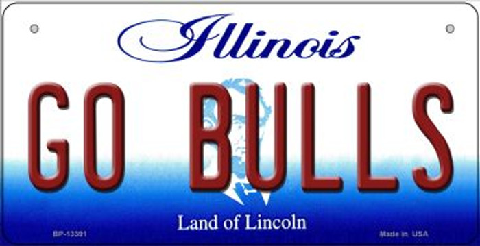 Go Bulls Novelty Metal Bicycle Plate BP-13391