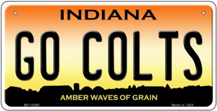 Go Colts Novelty Metal Bicycle Plate BP-13395
