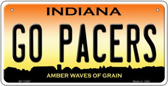 Go Pacers Novelty Metal Bicycle Plate BP-13397