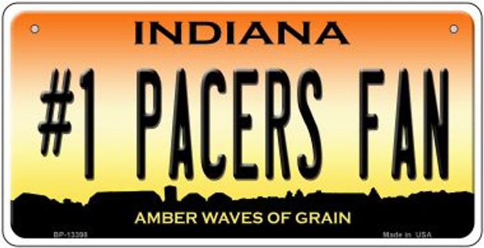 Number 1 Pacers Fan Novelty Metal Bicycle Plate BP-13398