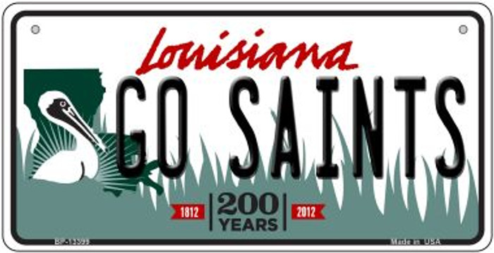 Go Saints Novelty Metal Bicycle Plate BP-13399