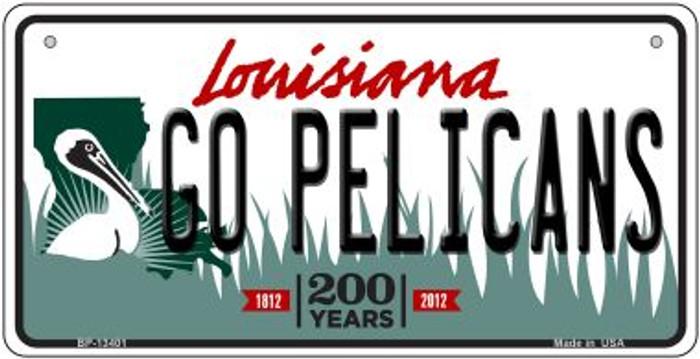 Go Pelicans Novelty Metal Bicycle Plate BP-13401