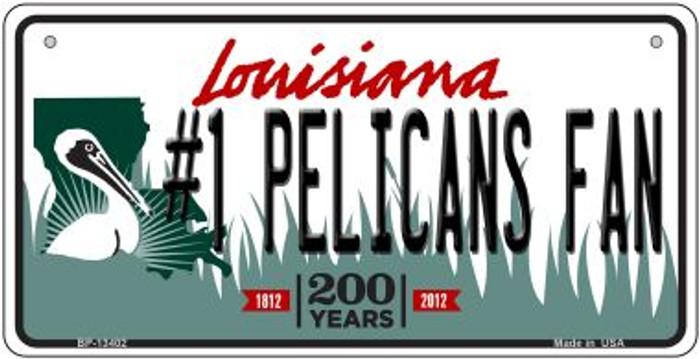 Number 1 Pelicans Fan Novelty Metal Bicycle Plate BP-13402