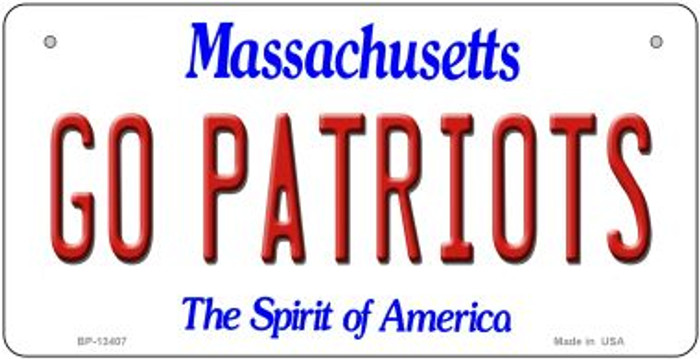 Go Patriots Novelty Metal Bicycle Plate BP-13407