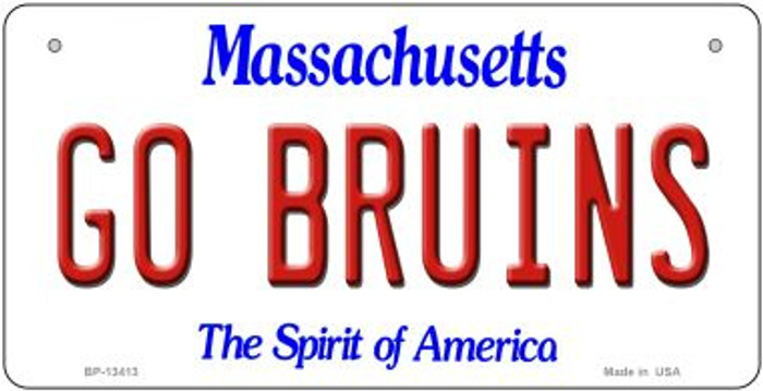 Go Bruins Novelty Metal Bicycle Plate BP-13413