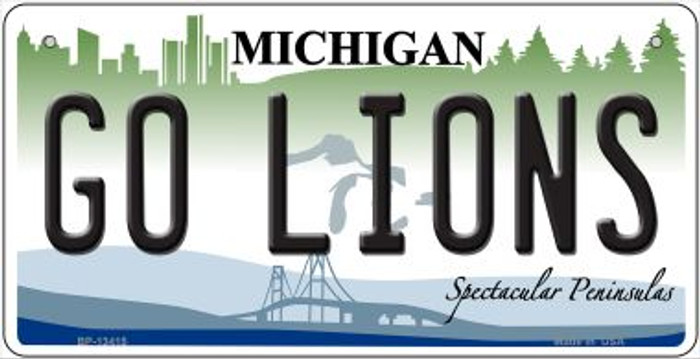 Go Lions Novelty Metal Bicycle Plate BP-13415