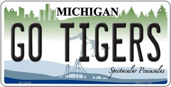 Go Tigers Novelty Metal Bicycle Plate BP-13416