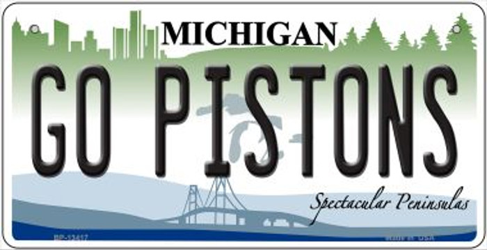 Go Pistons Novelty Metal Bicycle Plate BP-134117